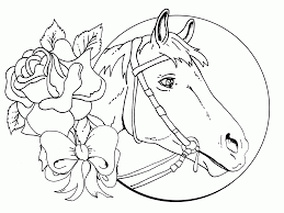 Wild Horse Free Printable Coloring Pages Girls