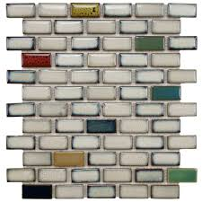 Home Depot Merola Penny Tile by Merola Tile Essence Subway Cascade 11 7 8 In X 12 In X 9 Mm