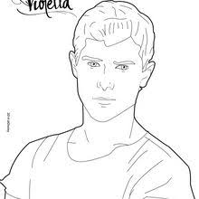 Violetta Diego Coloring Page