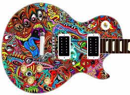 Guitar Skin Psychedelic Acid