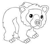 Hibernating Bear Coloring Page