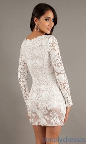 white dresses with lace sleeves
