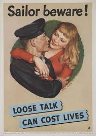 Sailors Were Reminded That Careless Words Shouldnt Be Spoken To Their Female Dates