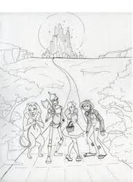 Wizard Of Oz Coloring Pictures Free