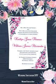 Gianna Wedding Invitation Hot Fuchsia Pink Navy Blue