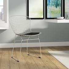 Ivy Bronx Burkey Wire Dining Chair   Wayfair White Wire Diamond Ding Chair Fmi1157white The Home Depot Shop Poly And Bark Padget Eiffel Leg Set Of 2 Bottega Tower Ding Chair By Sohoconcept Luxemoderndesigncom Commercial Gold Leaf Shape Metal Chairgold Color Bellmont Bertoia Of Rose Harry Oster Black Project 62 In 2019 4 Wire Ding Chairs Black With Cushion 831 W Green Cushion Zuo Eurway Holly Reviews Joss Main Hashtag Bourquin Wayfair Simple Hollow For Living Room