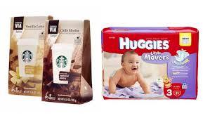Starbucks Via Huggies Products Printable Coupon