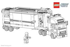 100 Lego Police Truck City Coloring Pages Free Printable Coloring Pages