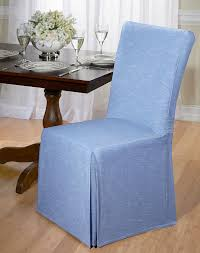 Walmart Parson Chair Slipcovers by Amazon Com Luxurious Dining Chair Slipcover Chambray Basket