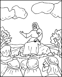 The Sermon On Plain Coloring Page