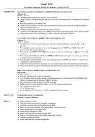 Download Organizational Effectiveness Consultant Resume Sample As Image File