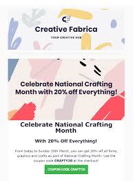 CouponCode 🏷 Celebrate National Crafting Month With 20% Off ... 35 Off National Running Center Coupons Promo Discount White Castle Coupons And Discounts Pen Coupon Code 2013 How To Use Promo Codes For Nationalpencom Prices Of All Products On Souqcom Are Now Inclusive Vat Partylite Coupon Codes 2018 Simply Be Code Synchro Gold Pockets Chicago Car Rental Free Day Lamps Plus Tom Douglas 45 Mllineautydaybe Pen Printable Orlando Best Vape No Bull Supplements Vistaprint Label Gallery Direct Wmu Campus