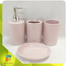 pink bathroom accessories pink bathroom accessories suppliers and