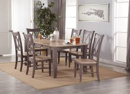 100 Oak Table 6 Chairs Aged Claystone Whitewash Gelco Furniture