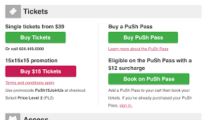 How To Purchase Your $15 Tickets (offer Now Expired) - PuSh Festival 2018 Factory Outlets Of Lake George Coupons The Utmost Benefits Free Shipping Programs Mageplaza Ll Bean Coupon Code January 2019 Fascats Cycling Traing Plans Black Friday Best Deals You Can Get Right Now Klook Promo Code August Grofers Offers 70 Off 250 Cashback Codes Aug Belk Codes November Nice Kicks Mellow Mushroom Coupons Atlanta September Sale Ultimate List Senior Discounts Medalerthelp Under Armour Kelby Traing