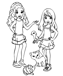 Lego Friends Mia Coloring Pages In