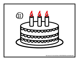 How To Draw A Birthday Cake Art for Kids Hub