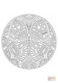 Click The Butterfly Mandala Coloring Pages To View Printable
