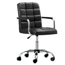 Roll-ff Black PU Leather Office Chair With Mid Back Swivel ... Office Chairs A Great Selection Of Custom Import And Sleek Chair With Chrome Base By Coaster At Dunk Bright Fniture Amazoncom Sdywsllye Teacher Chaise Gamers Swivel Great Budget Office Chairs Best Computer For We Sell In Cdition 100 Junk Mail Task Race Car Seat Design Prime Brothers Chair Herman Miller Mirra Colour Blue Fog Blue Hydraulic Wheeled Aveya Black Racing Study The Aeron Faces A New Challenger Steelcases