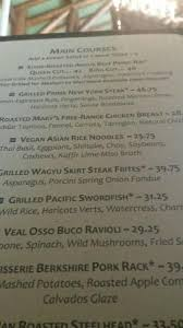 menu picture of the majestic yosemite dining room yosemite