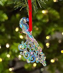 214 best christmas ornaments peacock images on pinterest