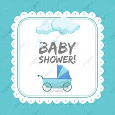Baby Shower Invitation Card Template Baby Shower Elephant PNG And