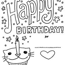 Happy Birthday Coloring Cards
