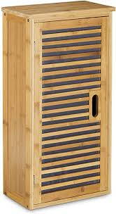 relaxdays badezimmer hängeschrank aus bambus 2 ablagen mit einlegeboden badschrank hxbxt 66 x 35 x 20 cm natur