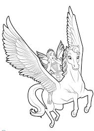 Unicorn Coloring Pages Flying With Fairy