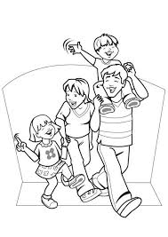 Good Family Coloring Pages 72 About Remodel Free Kids With