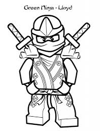 Green Ninja Coloring Pages For Kids Printable Free Lego Inside And Page