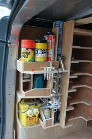 Plywood Lined van with bespoke shelving and racking Systems can be