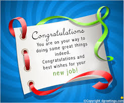 Congratulations You Are On Your WayNew Job Cards