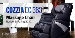Cozzia Massage Chair 16027 by Cozzia Ec 363 Massage Chair Review U0026 Rating 2017 Chair Institute