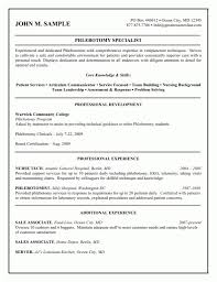 Phlebotomy Resume Sample No Experience Picture Templates