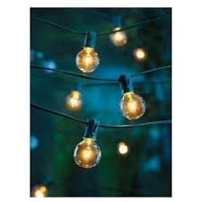 clear globe string lights set of 25 g40 bulbs indoor outdoor