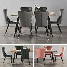 luxus küche esszimmer set tisch 4 new york samt stühle
