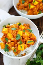 mango kokos curry mit kichererbsen