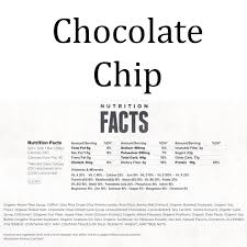 Clif Bar Chocolate Chip Nutrition Facts
