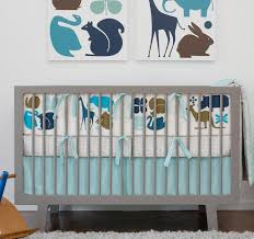 DwellStudio Gio Aqua Crib Set Crib Bedding Bedding Black Wagon