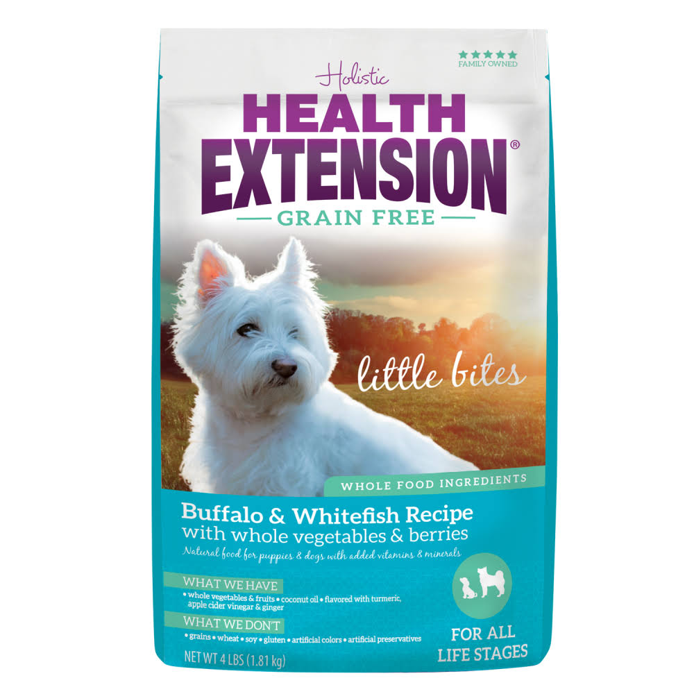 Health Extension Grain Free Little Bites Dog Food - Buffalo and Whitefish, 23.5lb