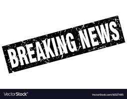 Square Grunge Black Breaking News Stamp Vector Image
