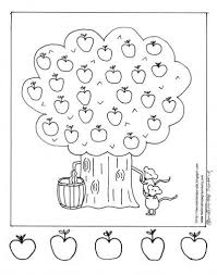 Apple Coloring Page Printable