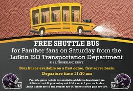 Free Shuttle Bus To Playoff Game Saturday | Lufkin ISD Borger Isd Benefits From Vironmental Lawsuit Ktrecom Lufkin Texas Party Bus First Class Tours Transportation Services 120 Tiny House Designs And Decorating Ideas Houses Img_1397q02px1 Back To School 201718 Angelina County Photographs 1930s Digital Rources Shop Houstonreadercom