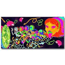 Rick And Morty Cartoon Minimalist Silk Poster Art Print 13x25 Inch Trippy 008