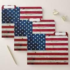 Cool Distressed Wood Rustic American Flag File Folder