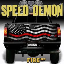 100 Truck Decals For Girls Tailgate Wrap Subdued American Flag Red Racing Stripes Rocker