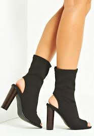 kim knitted peep toe ankle boot black sale boots sale