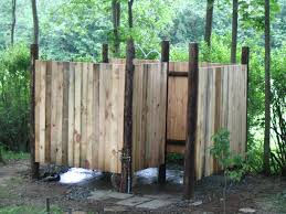 Simple Outdoor Shower Enclosurens Cottage Life Diy Ideas Pvc Outside Building Bathroom Category With Post Surprising
