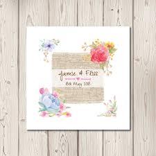 Rustic Floral Watercolour Pocketfold Wedding Invitations
